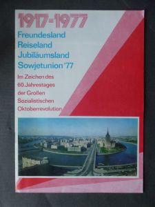 Reiseprospekt Reklame Sowjetunion Jubiläumsjahr 1977