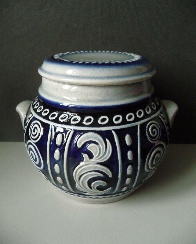Keramikdose Deckeldose Steinzeugtopf / Westerwälder Keramik?