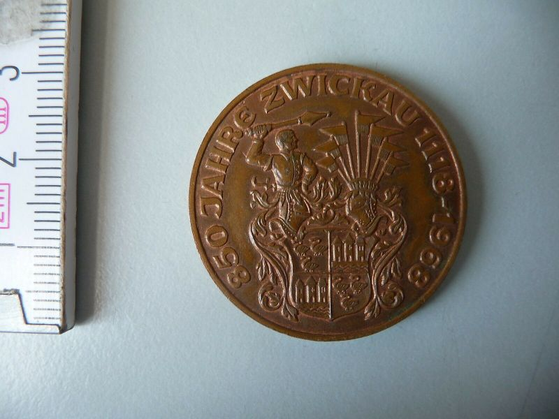 Medaille 850 Jahre Zwickau  Wappen Siegel 1968