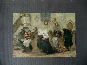 Kunstdruck Farblithographie Carl F. Smith Dorfkirche