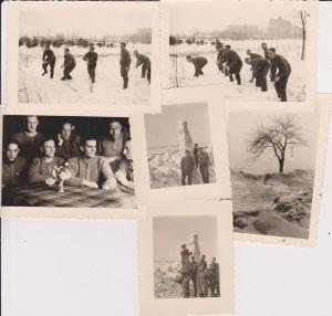6 x Orig. Foto Soldaten im Schnee Schneemann / Großenhain 1942