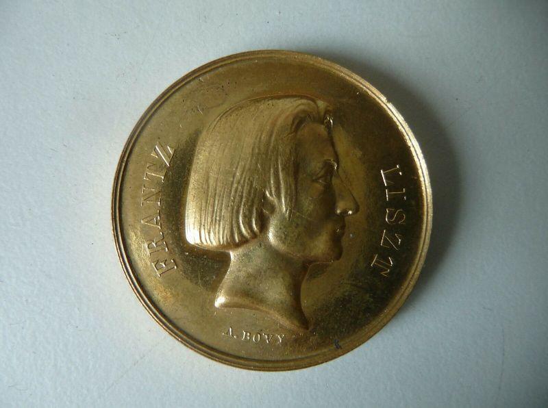 Medaille Franz Liszt Konzert im Italienischen Theater 1844 / A. Bovy