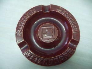 Aschenbecher Reklame Hardenberg Weizenkorn rot