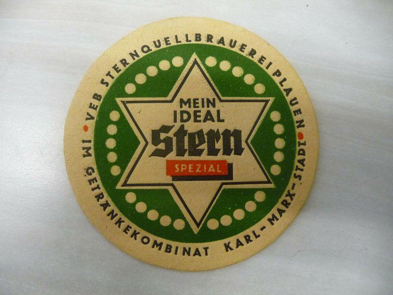 Bierdeckel Sternquell Plauen / Getränkekombinat Karl-Marx-Stadt