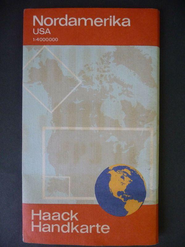 Haack Handkarte Nordamerika USA 1980