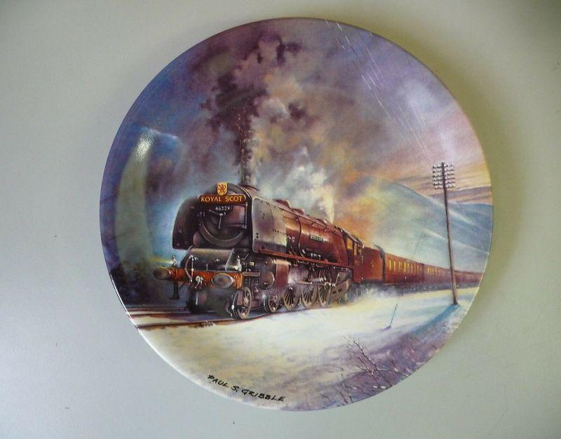 Sammelteller Great Steam Trains Royal Scot / Davenport Pottery