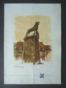 Alter Menüplan T.S. Bremen / Norddeutscher Lloyd 1960