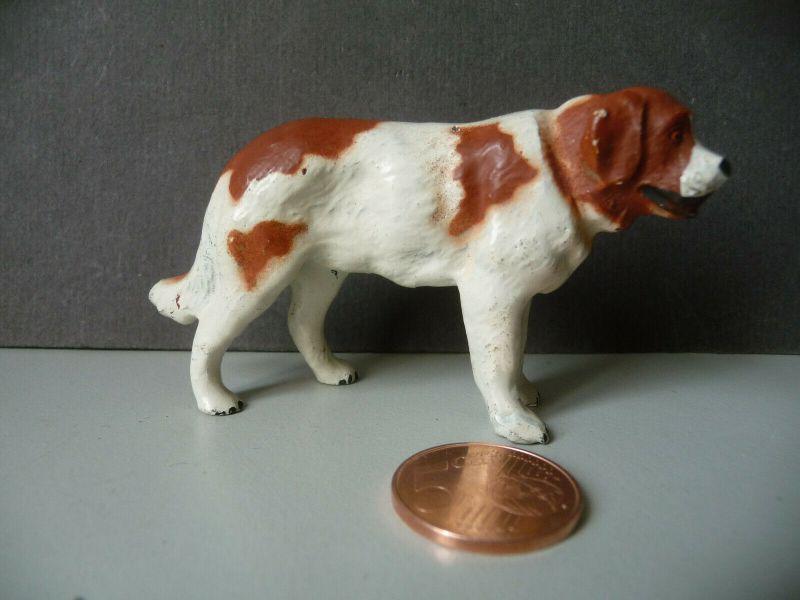 Massefigur Tierfigur Hund Bernhardiner Lineol Bauernhof