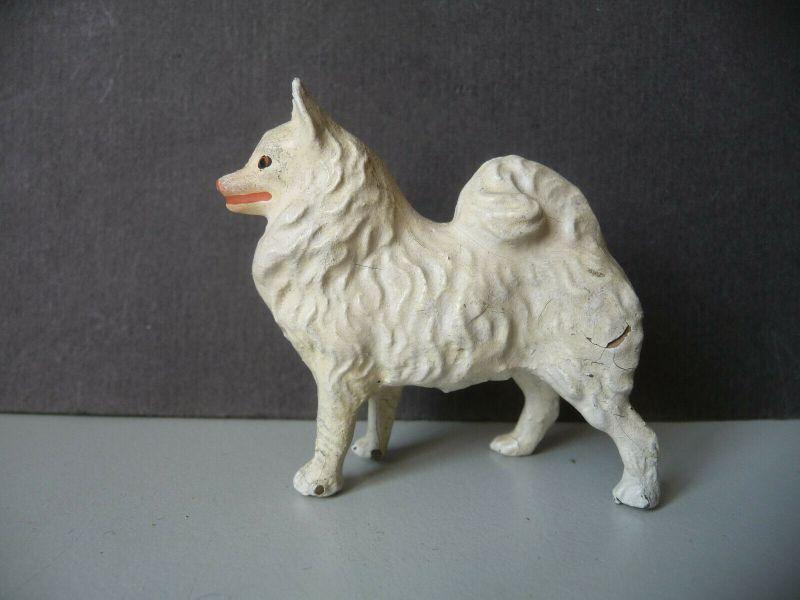 Massefigur Tierfigur Spitz Lineol Hund Bauernhof