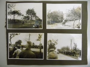 4 Orig. Fotos Albumseite Motorradrennen Oldtimer Schleiz? ca. 1930