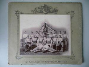 2 große Fotos Turner Turnverein Riege Eiche Plauen 1902