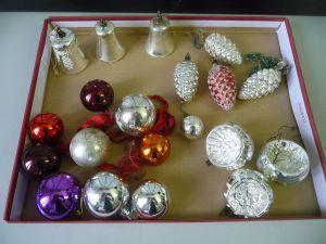 20 x Christbaumschmuck Weihnachten Baumschmuck Kugeln Zapfen Glocken
