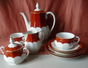 Kaffeeservice Mokkaservice für zwei 9 Teile / Kaestner Porzellan