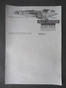 Orig. Briefpapier Fa. Paul Dietsch Autowerkstatt Plauen Vogtland ca. 1940
