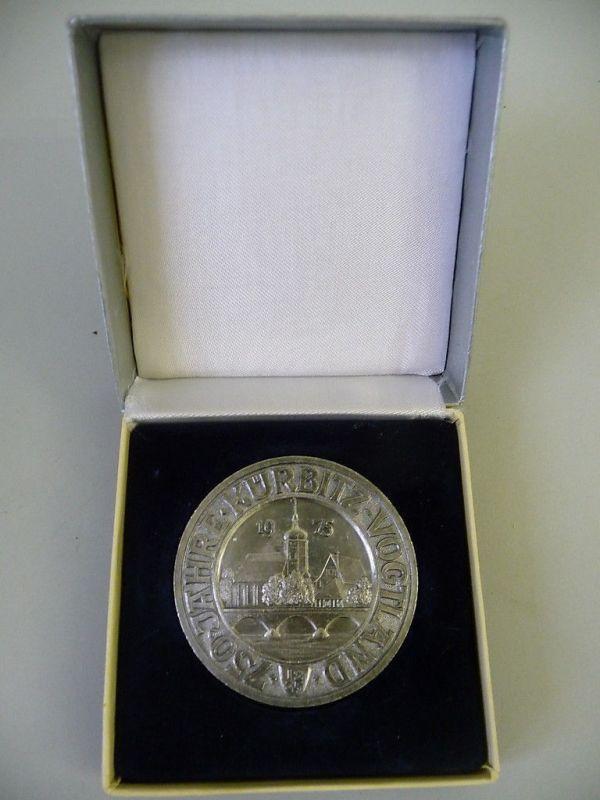 Medaille Kürbitz 750 Jahre 1975 Stahl im Etui