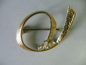 Originelle Brosche Modeschmuck mit Glassteinen