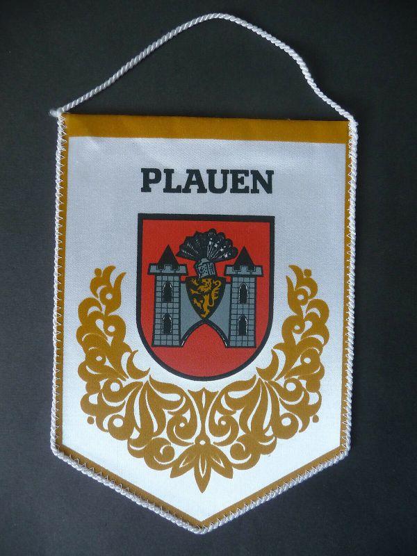Wimpel Anhänger Plauen Wappen Rathaus DDR