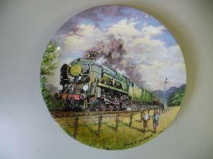Sammelteller Great Steam Trains Golden Arrow Dampflok / Davenport Pottery 1988