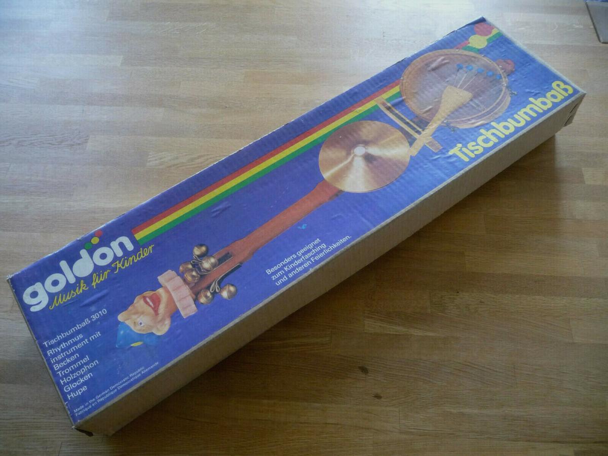 Tischbumbass Teufelsgeige für Kinbder Fasching Karneval / VEB Goldon DDR