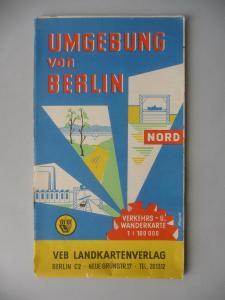 Landkarte Wanderkarte Berlin Umgebung Nord Oranienburg Zehdenick Eberswalde 1957