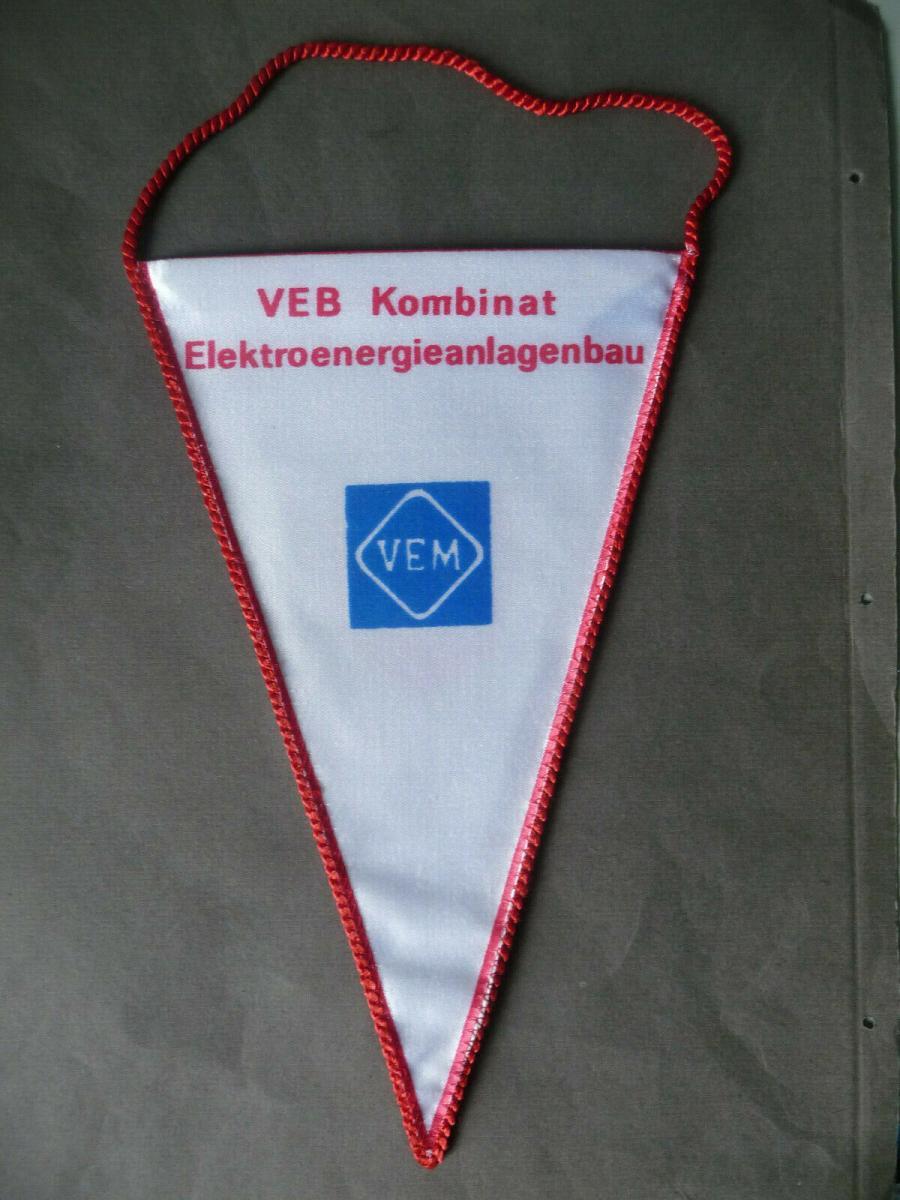 Wimpel Plauen VEB Elgawa / VEM  Elektroenergieanlagenbau 1