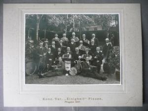 Großes Orig. Foto auf Pappe Konzertvereinigung