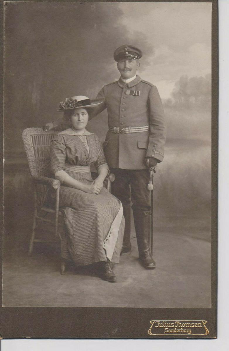 Orig. Foto Kabinettbild CdV Soldat Feldwebel Uniform Sonderburg