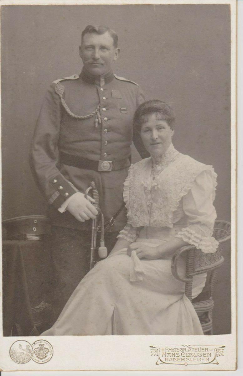 Orig. Foto Kabinettbild CdV Soldat Leutnant Uniform Hadersleben