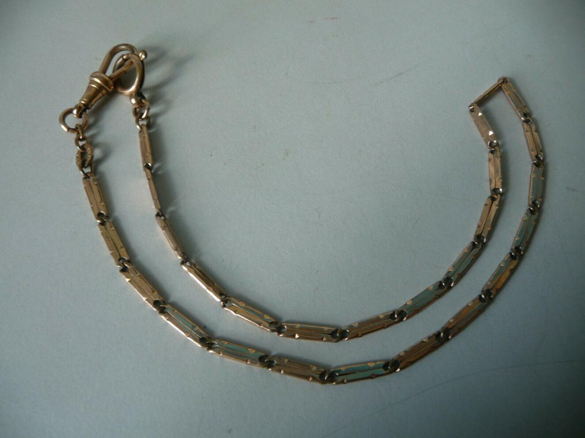 Alte filigrane Uhrenkette goldfarben