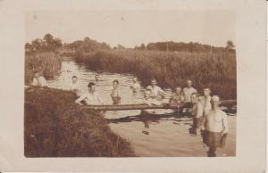 Orig. Foto Erster Weltkrieg Soldaten beim Baden im Fluss Osteuropa ?