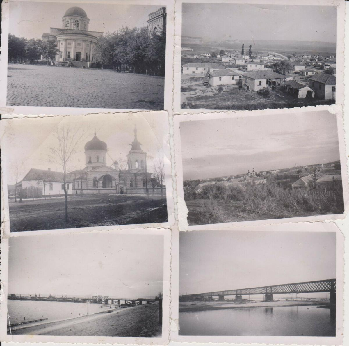 6 x Orig Foto Osteuropa Ukraine Russland Kirche Landschaft Brücke WKII ca. 1940