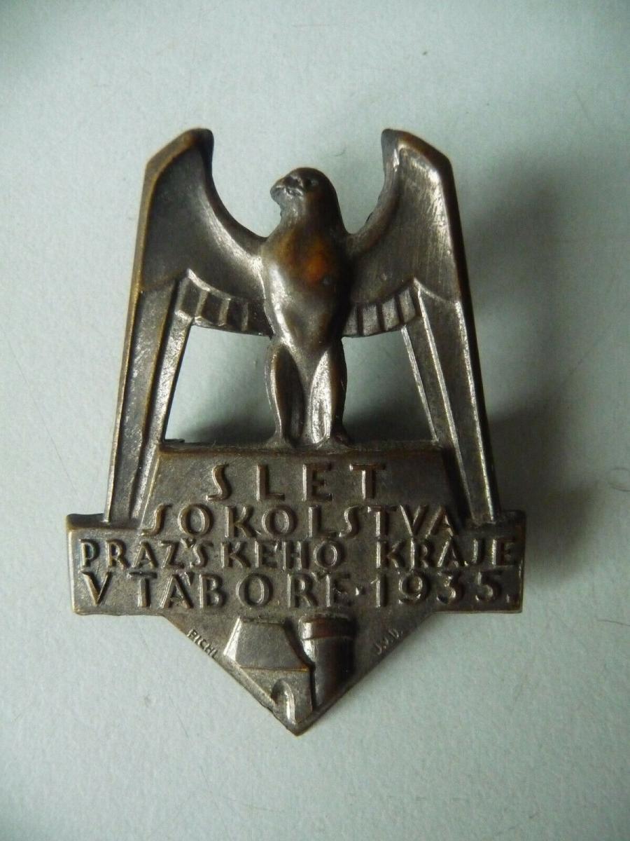 Abzeichen Odznak Slet Sokolstva Prazskeho Kraje / Sokol Tabor 1935