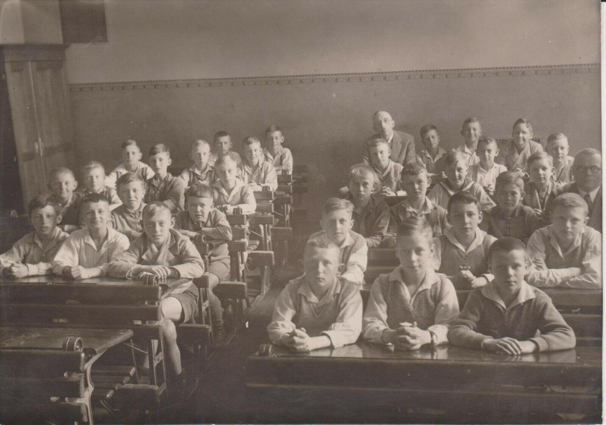 Orig. Foto Klassenfoto Schulklasse Jungen Knaben Lehrer 1932