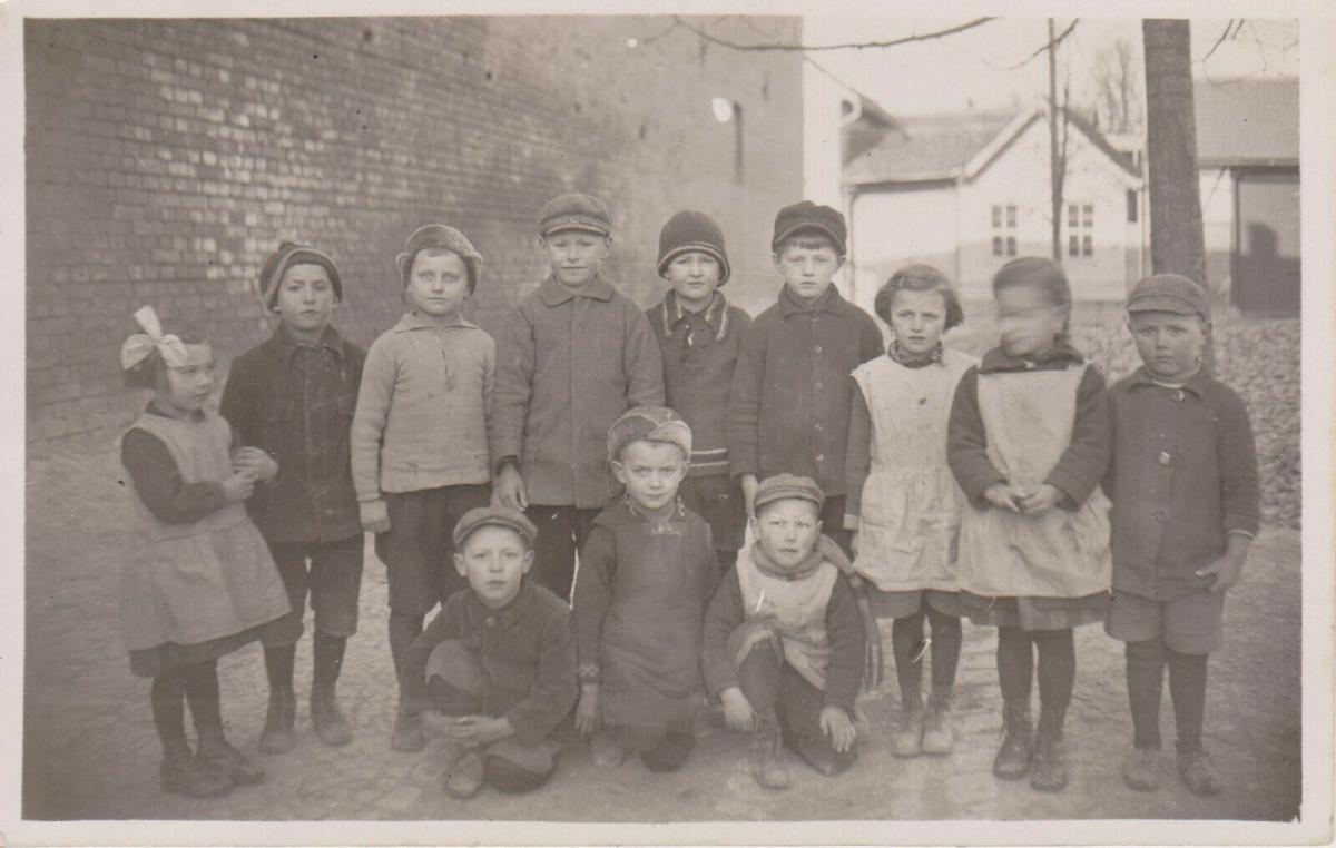 Orig. Foto Kinder Gruppenbild Görmar b. Mühlhausen Thüringen 1929
