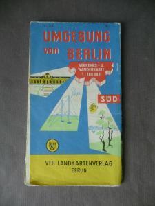 Landkarte Wanderkarte Berlin Umgebung Süd Zossen Königswusterhausen 1964