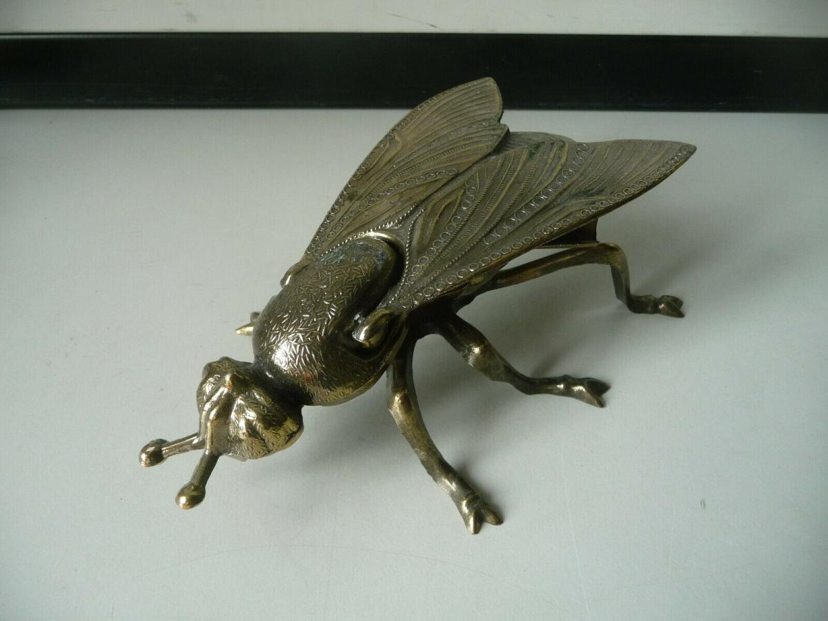 Metall-Aschenbecher Figur Dekoration Fliege Insekt