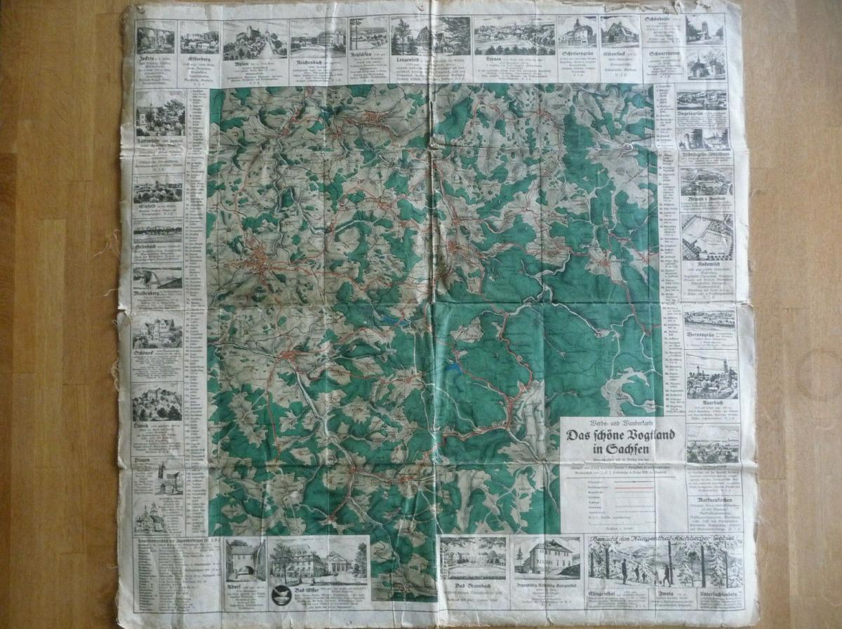 Landkarte Wanderkarte