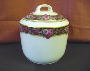 Zuckerdose mit Blumenband / Fraureuth Porzellan