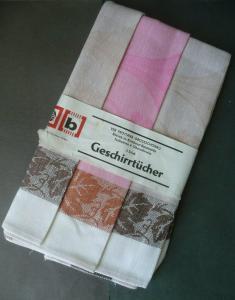 3 x Geschirrtuch / VEB Frottana Großschönau DDR