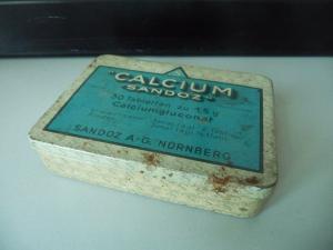 Blechdose Calzium-Tabletten / Sandoz AG Nürnberg