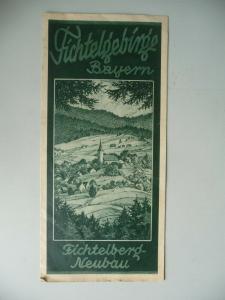 Reiseprospekt Fichtelberg Neubau Bayern ca. 1940