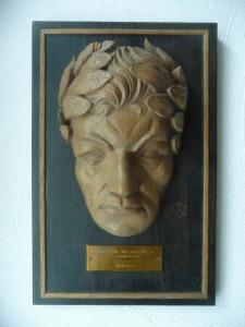 Gedenktafel Jubiläum Männerchor Wurzen 1949 mit Totenmaske Beethoven