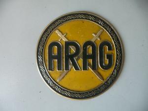 Plakette Autoplakette Blechemblem ARAG Versicherung