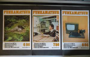 3 x Funkamateur Zeitschrift GST DDR Nr. 6 - 8 / 1986