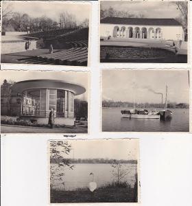 5 Orig.Fotos Zwickau Schwanenteich Freilichtbühne 1960