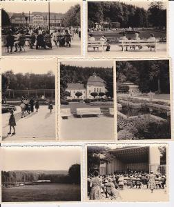 7 Orig. Fotos Bad Elster Konzert Albertbad ua. ca. 1950