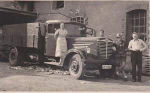 Orig. Foto Lastwagen LKW Transportfahrzeug Oldtimer Büssing NAG ca. 1940