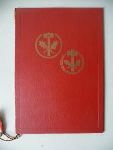 Urkunde Mappe Ehrenzeichen Handwerk Silber PGH DDR Karl-Marx-Stadt Werdau 1987
