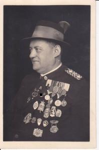 Orig. Foto Porträt Ferienonkel Schütze Orden Sammlung / Endorf Chiemgau 1936