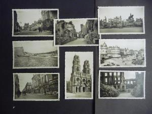 Set 8 Fotos Orleans Kriegszerstörung Kathedrale WKII ca. 1940